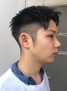 ナチュラル刈り上げメンズヘア