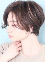 外国人風ハイライト*大人ショートボブ(髪型ショートヘア)
