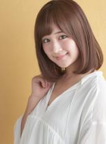 シルキーストレート(髪型ミディアム)