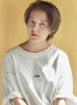 ハンサムガールボブ×ブルージュカラー(髪型ショートヘア)