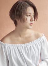 2019年人気のシアーベージュ(髪型ショートヘア)