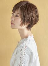 アレンジのしやすいショート×3Dカラー(髪型ショートヘア)