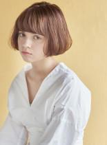 丸みショート 無造作カールボブディ(髪型ショートヘア)