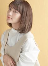ワンレン上品ミニマムボブ×3Dカラー(髪型ボブ)