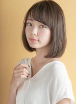 リラックスミニマムボブ×3Dカラー(髪型ボブ)