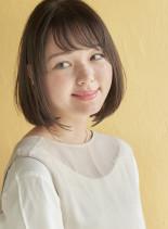 大人かわいい小顔シースルーバング(髪型ボブ)