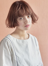 切りっぱなしパーマボブ(髪型ショートヘア)