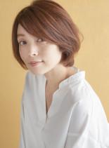 大人かわいいショートボブ×3Dカラー(髪型ショートヘア)