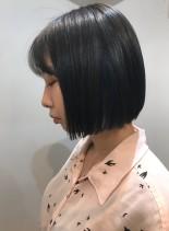 大人可愛いボブ☆切りっぱなしボブ(髪型ボブ)