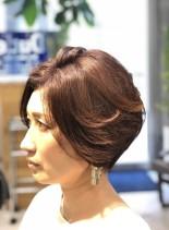 お手入れ簡単 マッシュボブ(髪型ショートヘア)