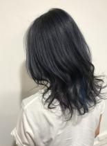 ☆透明感ツヤ髪ブルー☆(髪型ミディアム)