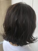 ボブ×ラベンダーグレージュ☆(髪型ボブ)