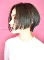 40代50代お手入れ簡単ショートボブ(髪型ショートヘア)