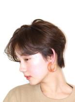 大人のゆったりショート(髪型ショートヘア)