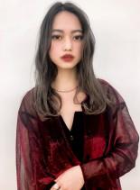 カット+ミルフィーユグラデーション(髪型ロング)