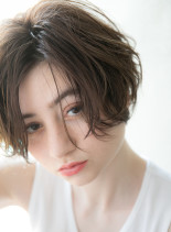 大人可愛い×無造作ショートボブ(髪型ショートヘア)