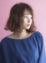 切りっぱなしボブ☆パーマスタイル(髪型ボブ)