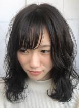 ピンクアッシュ×ソフトレイヤーカット☆(髪型ミディアム)