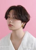 ラフサイドグラデーション(髪型ショートヘア)