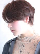 前髪長め◇柔かなニュアンスショート(髪型ショートヘア)