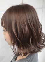 テラコッタカラー×ボブスタイル(髪型ボブ)