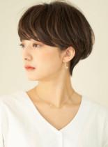 長め前髪メリハリショート(髪型ショートヘア)