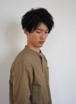 ニュアンスくせ毛×スッキリマッシュ(髪型メンズ)