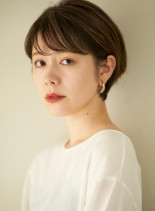 丸みシンプルショート(髪型ショートヘア)