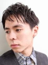 ウェットスタイルショート(髪型メンズ)