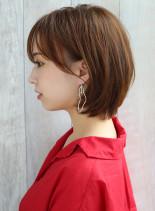 30代大人耳かけリラックスボブ(髪型ボブ)