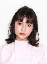 ハネても可愛い大人のフェミニンロブ☆(髪型ミディアム)