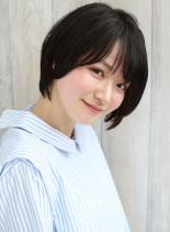 30代大人ナチュラルショートボブ☆(髪型ショートヘア)