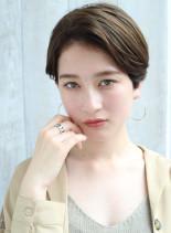 30代耳かけ大人ナチュラルショート☆(髪型ショートヘア)