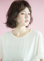 髪質改善トリートメントカラー×ボブ(髪型ボブ)