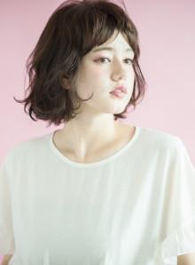 髪質改善トリートメントカラー×ボブ(ビューティーナビ)