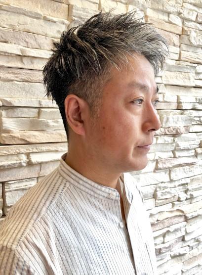 大人メンズ ツーブロックベリーショート(髪型メンズ)