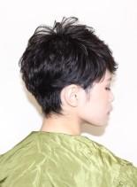☆シルエットが綺麗な大人クールショート☆(髪型ベリーショート)