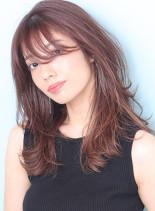 大人のひし形◇小顔レイヤーロング(髪型セミロング)