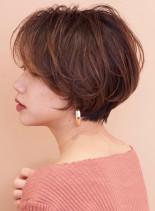 ふんわりパーマショート☆(髪型ショートヘア)