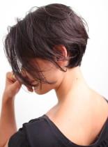 大人の綺麗な前下がりショートボブ(髪型ショートヘア)
