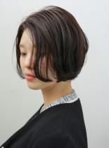 大人世代のショートボブ(髪型ショートヘア)