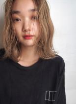 ニュアンスベージュボブ(髪型ボブ)