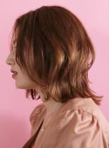 大人30代40代米倉凉子風レイヤーボブ(髪型ミディアム)