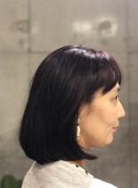石田ゆり子風 イングラボブ(髪型ボブ)