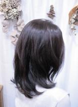 ボタニカルウェーブ×インナーカラー(髪型セミロング)