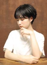 ナチュラル色っぽショート(髪型ショートヘア)