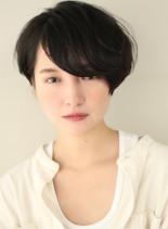 くせ毛風ナチュラルパーマ(髪型ショートヘア)