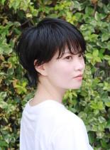 夏のシンプルショートヘアー(髪型ショートヘア)