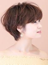 大人可愛い☆マッシュパーマ(髪型ショートヘア)