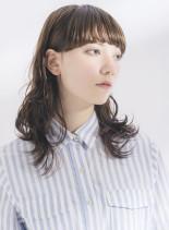 マッシュウルフ(髪型セミロング)
